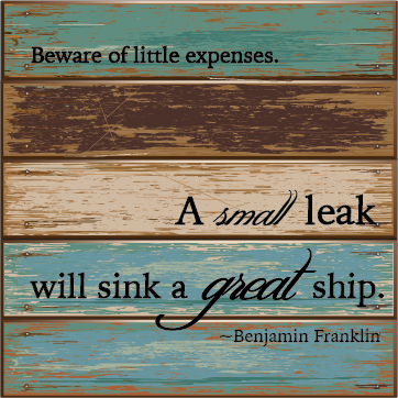 Beware of little expenses